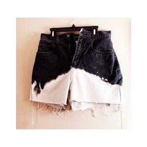 High waisted boho shorts